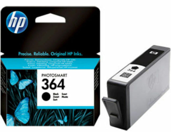 2 x HP 364 Black Ink Cartridge CB316EE Original and Genuine NEW Blister