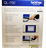 Brother Thermal Label Printer QL-700 QL700 Print Address Labels Brand New Boxed