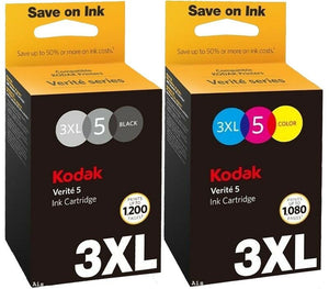 Kodak Verite 5 3XL Multipack Black , Colour Ink Crtridges for 55 ,60, 65 Printer