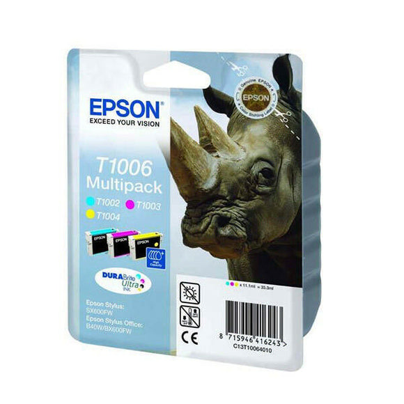 Epson Original Durabrite T1006 Rhino Colour Multipack Ink Cartridges GENUINE uk