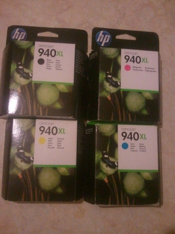 Genuine HP 940 XL Full Set Officejet Pro 8000 8500 Ink Cartridges FREE FAST POST