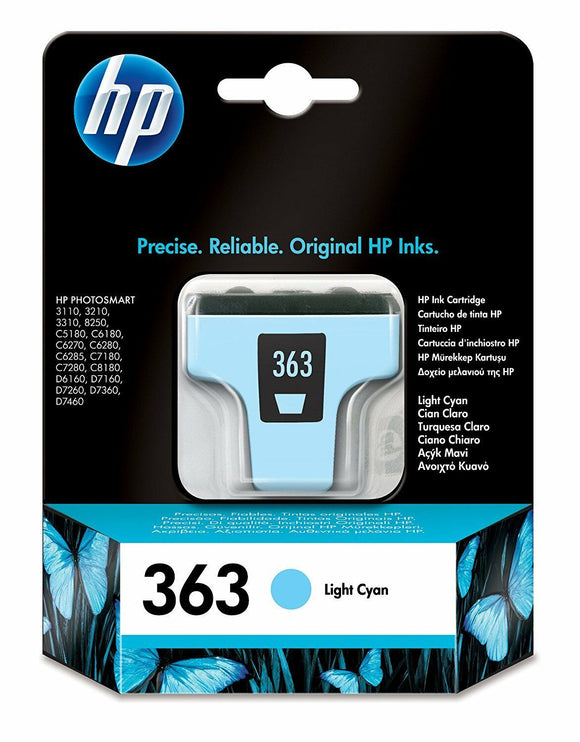GENUINE ORIGINAL HP 363 LIGHT CYAN INK CARTRIDGE C8774EE D7460 D7360 D7260 D7160