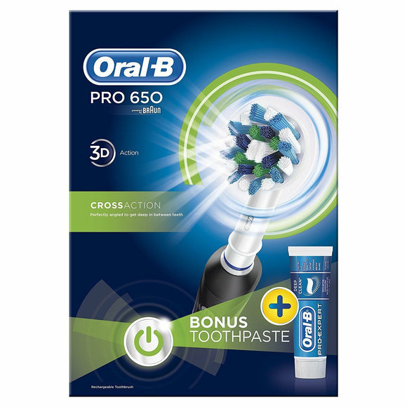 Oral-B OralB Professional Braun  Electric Rechargeable Tooth Brush + Free Paste