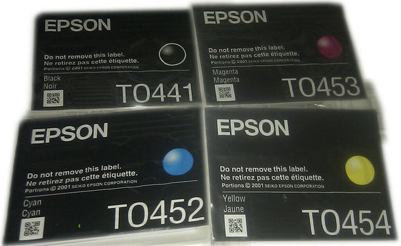 Epson Original Durabrite Ink Cartridge Multipack T0445 T0441 T452 T453 T0454 NEW