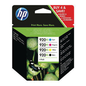 Set of 4 No 920XL Original OEM Inkjet Cartridges For HP Officejet 6500 6000 7500