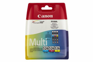 Canon CLI-526 3 Inkjet Cartridge Cyan Magenta Yellow Multipack IP4850 MX895 885
