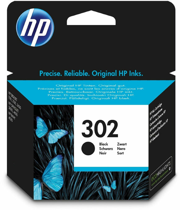 Original Genuine HP 302 Black Ink Cartridge for Envy 4520 4522 4523 4524 F6U66AE