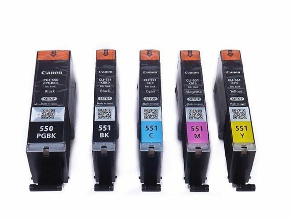 551 Genuine Original Canon 5 Ink Cartridge Set for IX6850 MG6600 MG6650 MG6450