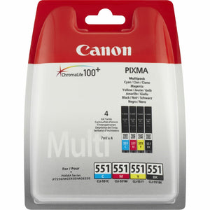 Inkjet Cartridge Canon 551 CLI-551, 6509B009AA PIXMA iP7250/MG5450/MG6350 bcmy