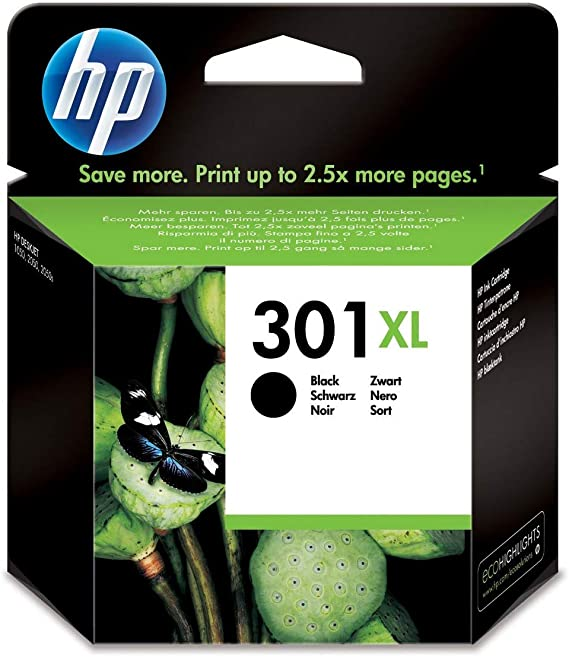 HP CH563EE 301 XL High Yield Original Ink Cartridge, Black