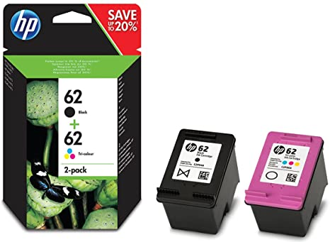 N9J71AE#301 - Ink Cartridge No. 62 B/C/M/Y 62 Pack of 2 Black/Cyan/Magenta/Yellow Original Ink Cartridges