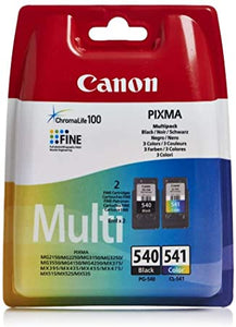 Canon PG-540 / CL-541 Ink Cartridge - Multi-Coloured, Pack of 2