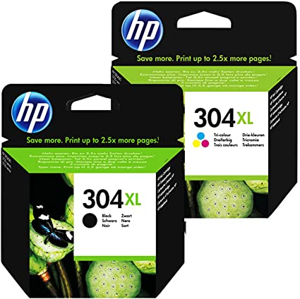 HP 304XL Set Black and Color N9K07AE N9K08AE for use with HP Deskjet 3720 3730