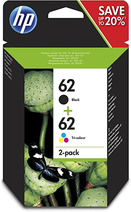 HP 62 2-Pack Black / Tri-colour Original Ink Cartridge Combo Pack