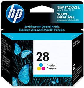 Hp Hewlett Packard Ink Inkjet colour print cartridge No. 28 C8728A in foil packaging