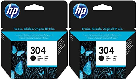 2x Deskjet 3720 Ink Cartridges - Black - HP Original Cartridges