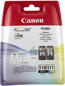 Canon PG-510 CL-511 Inkjet Cartridges, Multipack CL511+ PG510 2970B010AA