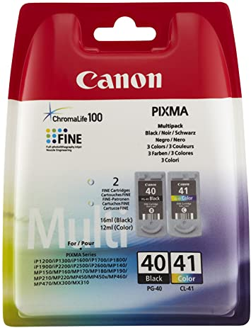 Canon PG-40 CL-41 black & colour Original Ink Cartridges