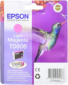Epson C13T08064011 St PHRX265 Phototographic 7.4 ml 590 Pages Ink Cartridge – hellmagenta, Packaging may vary