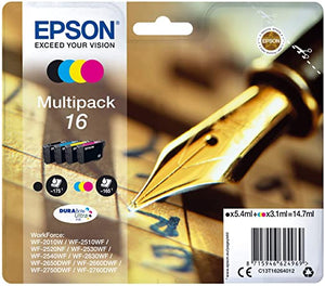 Epson 16 Pen C13T16264012  Ink cartridge multipack Black Cyan Magenta Yellow