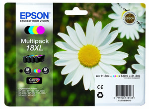Epson No18XL Daisy Multipack  Claria Home Ink Cartridges T1816 C13T18164010 New