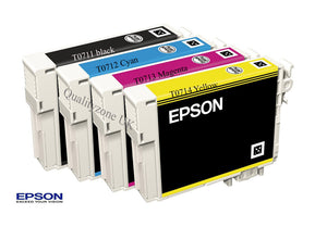 Epson Original T0715 Multipack Ink Cartridges Set C13T071540A0 T0711 T0712 T0713