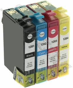 Compatible Multipack 4 Ink Cartridges For Epson T1285 Printers Stylus S22 SX125
