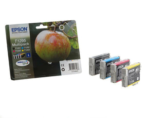 Epson T1295 (1291 T1292 T1293 T1294) Apple Original Genuine Ink Cartridges BLST