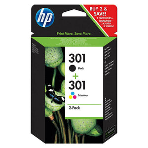 Genuine HP 301 Black n Colour Ink Cartridge For Deskjet 1050A N9J72AE envy 4502