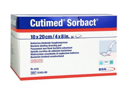 Antimicrobial Wound Dressing Cutimed Sorbact 4 X 8 Inch Sterile