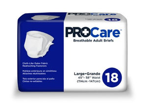 Adult Incontinent Brief ProCare Tab Closure Large Disposable Heavy Absorbency