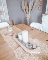 chemin de table en raphia naturel