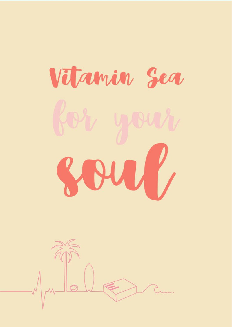 Carte postale good vibes vitamin sea for your soul living by the waves