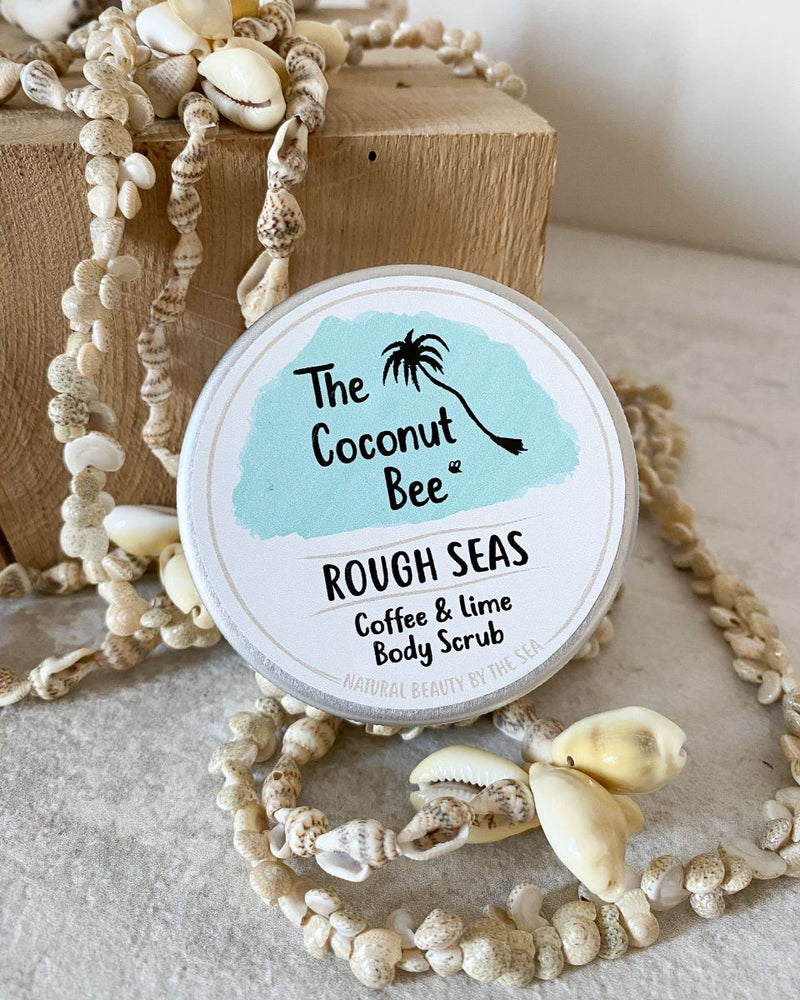 gommage corps café et citron vert lime Rough sea the coconut bee living by the waves