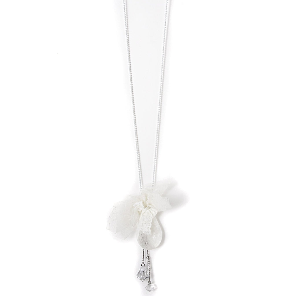 Calla Crystal Necklace - Ivory - PROJECT 6, modest fashion