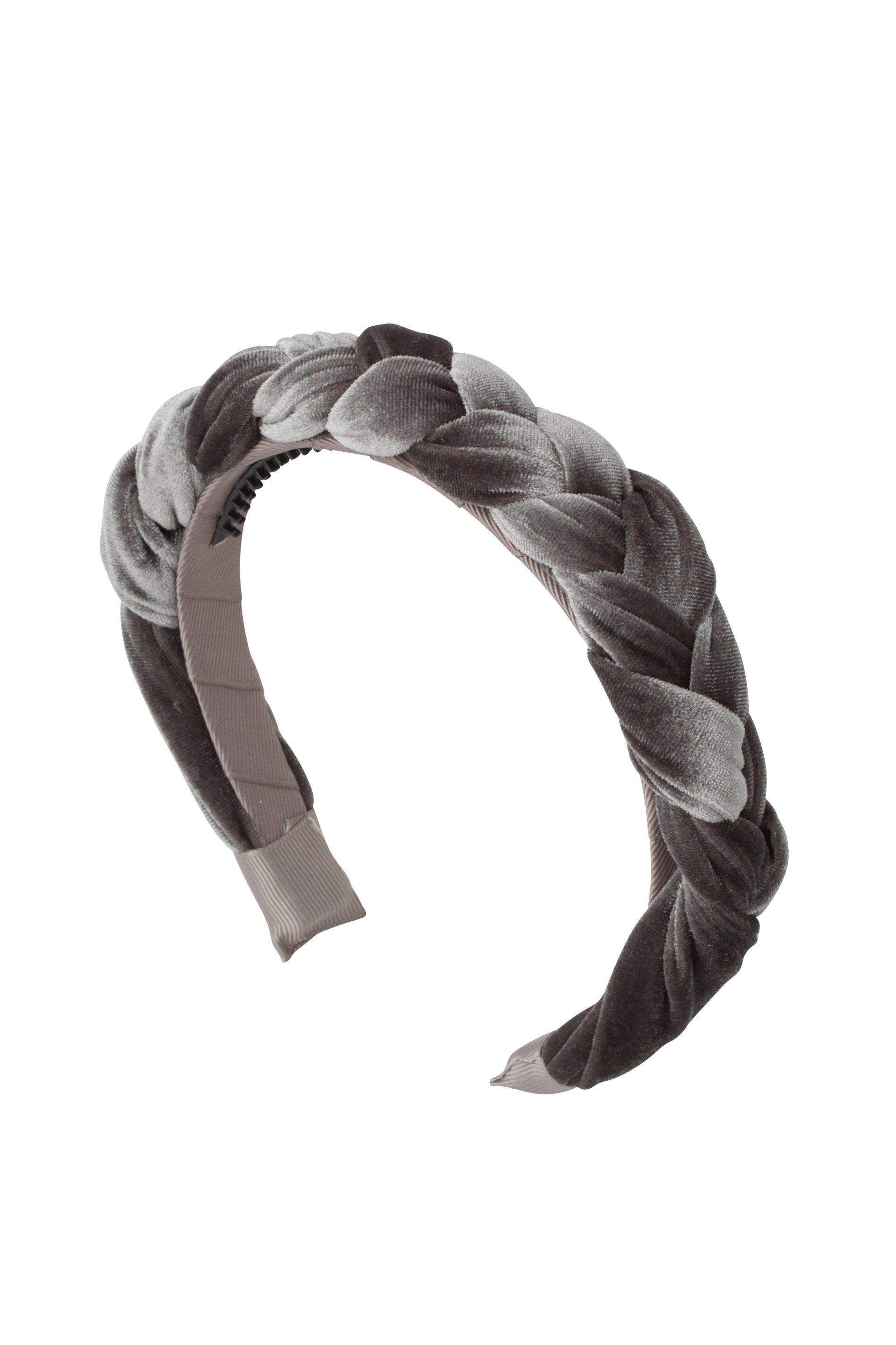 Coronation Day Headband - Grey Velvet - PROJECT 6, modest fashion