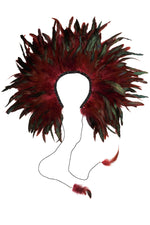 Load image into Gallery viewer, Feather Collar - Maroon - PROJECT 6, modest fashion