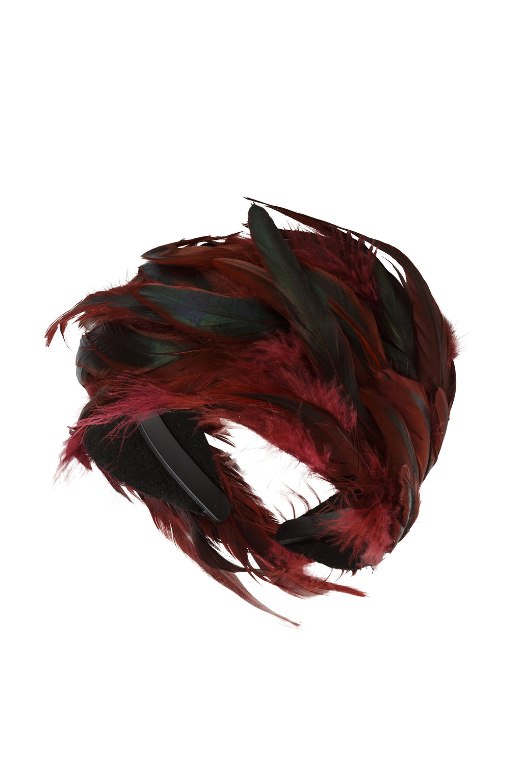 Feather Headband - Maroon - PROJECT 6, modest fashion