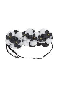 Floral Crown Baby - Black/White - PROJECT 6, modest fashion
