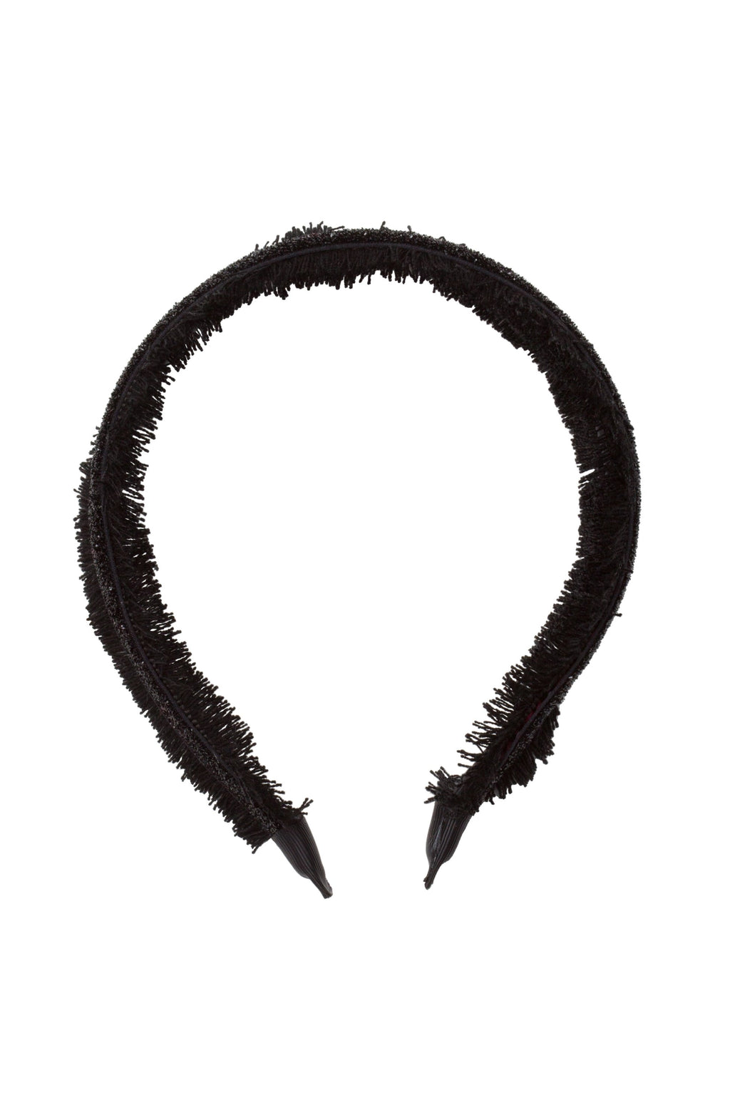 Flat Fringe Headband - Black - PROJECT 6, modest fashion