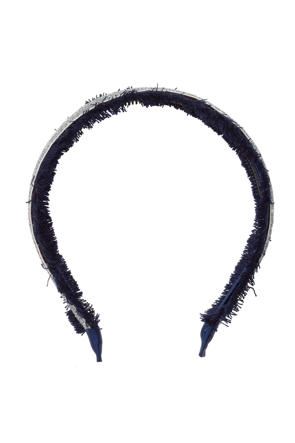 Flat Fringe Headband - Navy/Silver - PROJECT 6, modest fashion