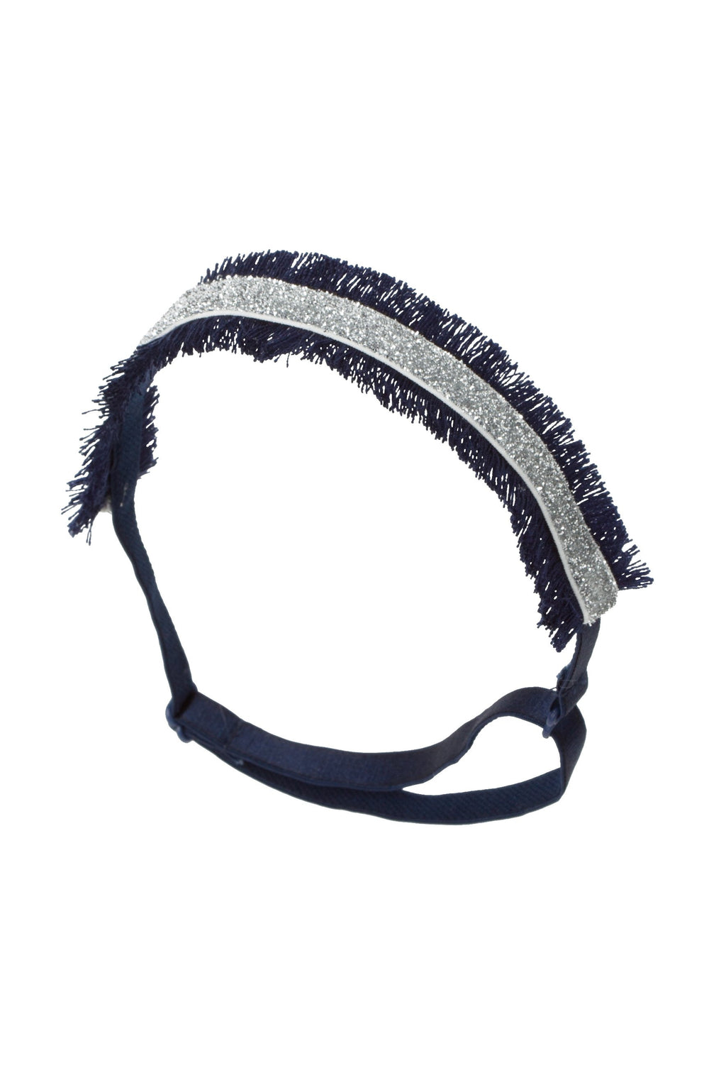 Flat Fringe Wrap - Navy/Silver - PROJECT 6, modest fashion
