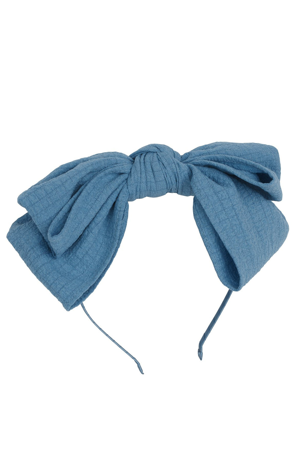 Floppy Muslin Headband - Smoke Blue - PROJECT 6, modest fashion