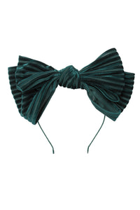 Floppy Velvet Stripe Headband - Hunter Green - PROJECT 6, modest fashion