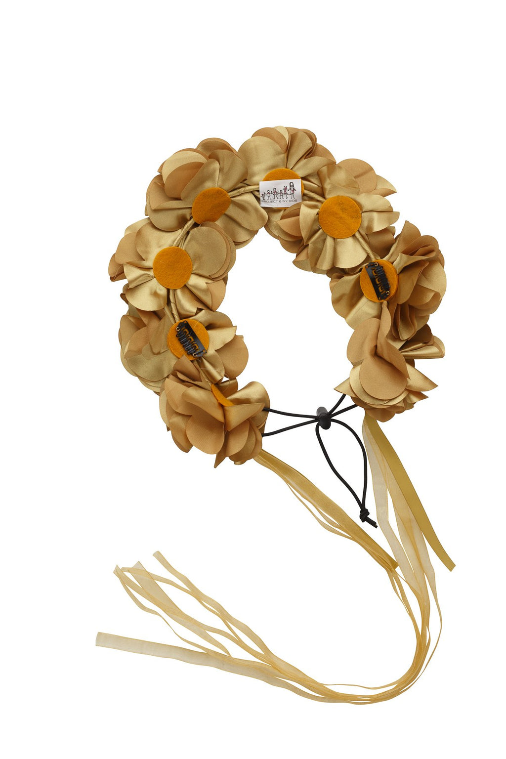Floral Wreath Full - Gold - PROJECT 6, modest fashion