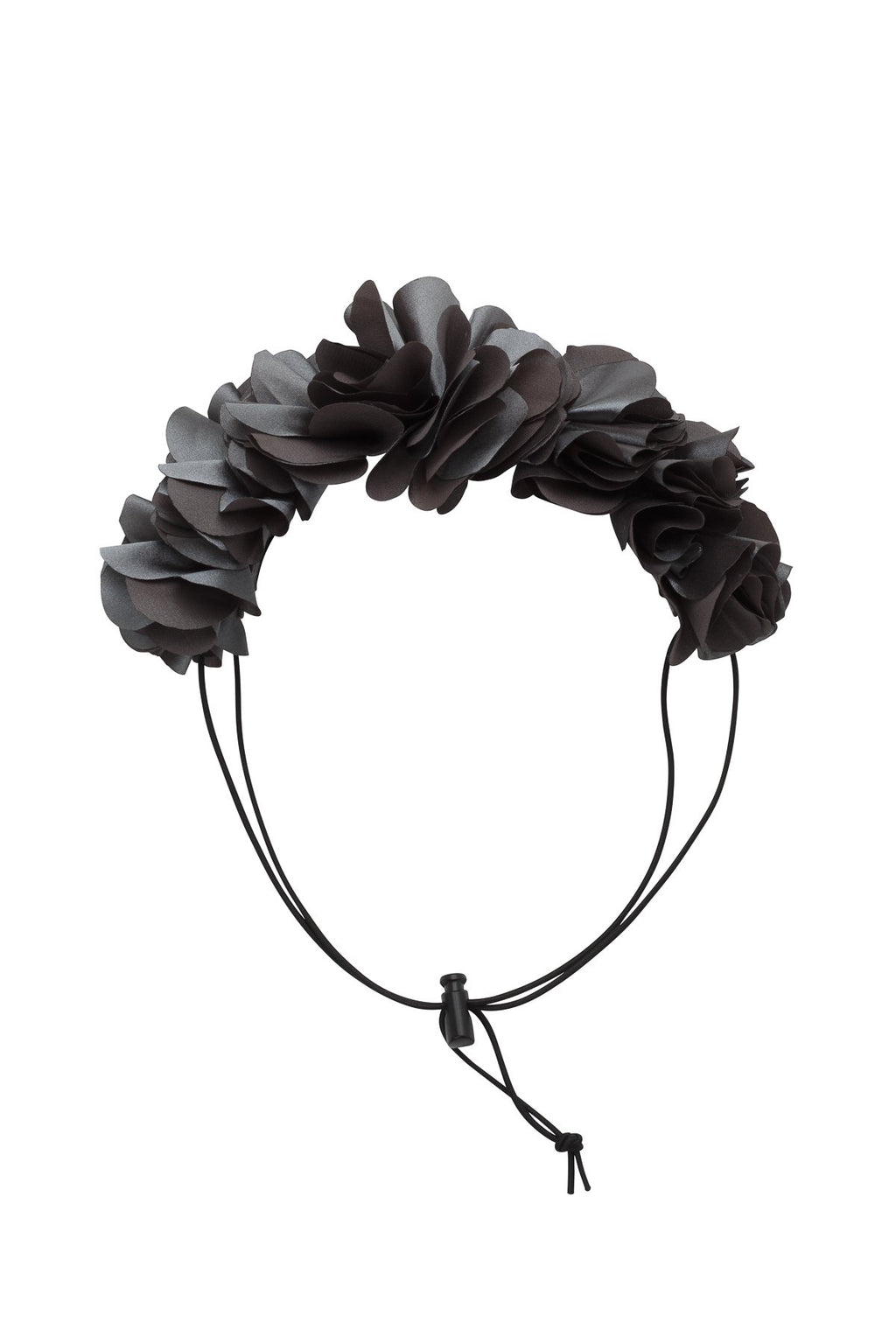 Floral Wreath Petit - Charcoal - PROJECT 6, modest fashion