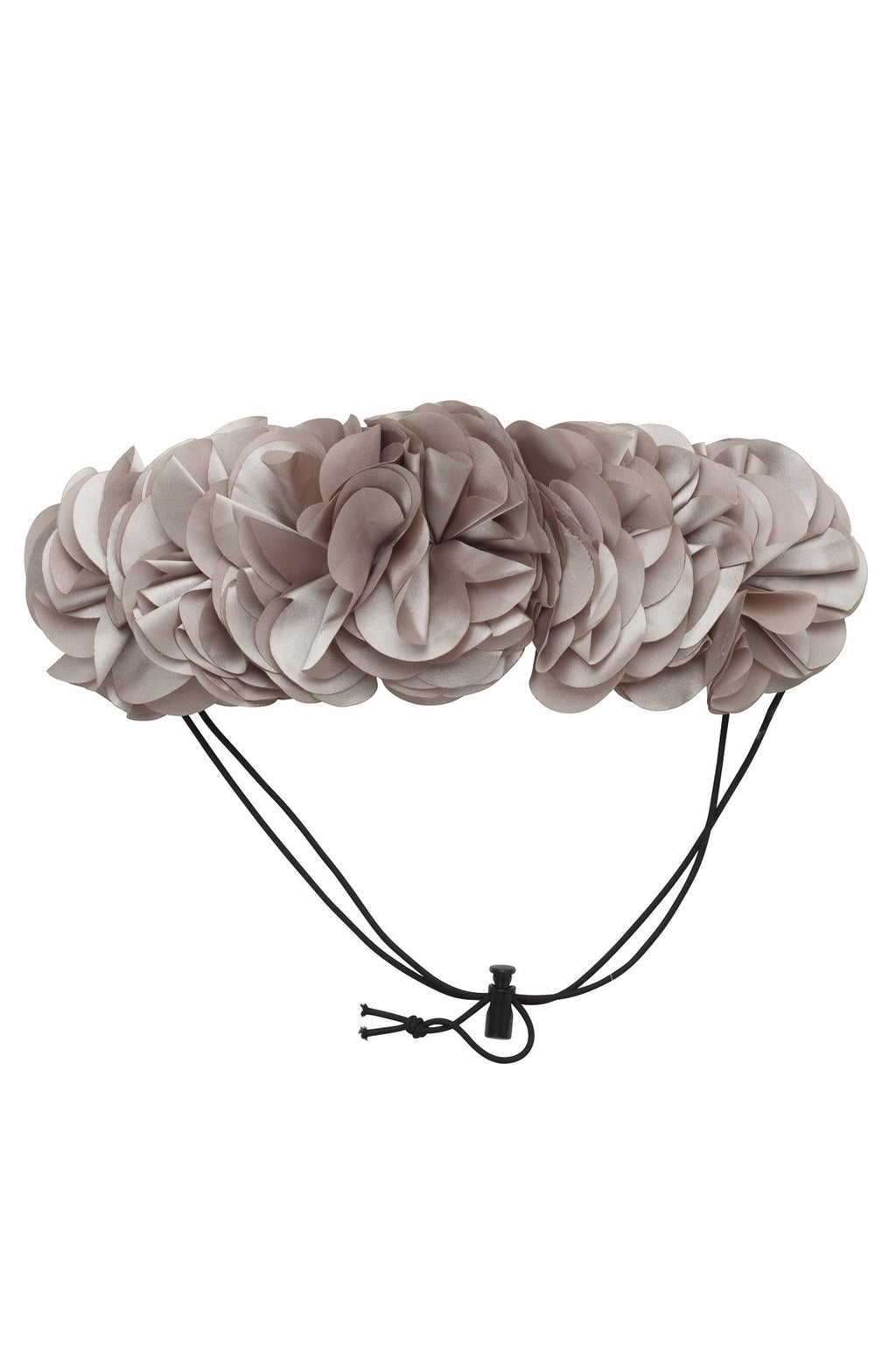 Floral Wreath Petit - Taupe Grey - PROJECT 6, modest fashion