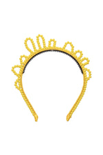 Load image into Gallery viewer, Glass Princess Headband - Yellow
