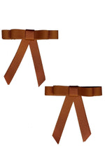 Load image into Gallery viewer, Grosgrain Bow Clip Set (2) - Copper - PROJECT 6, modest fashion