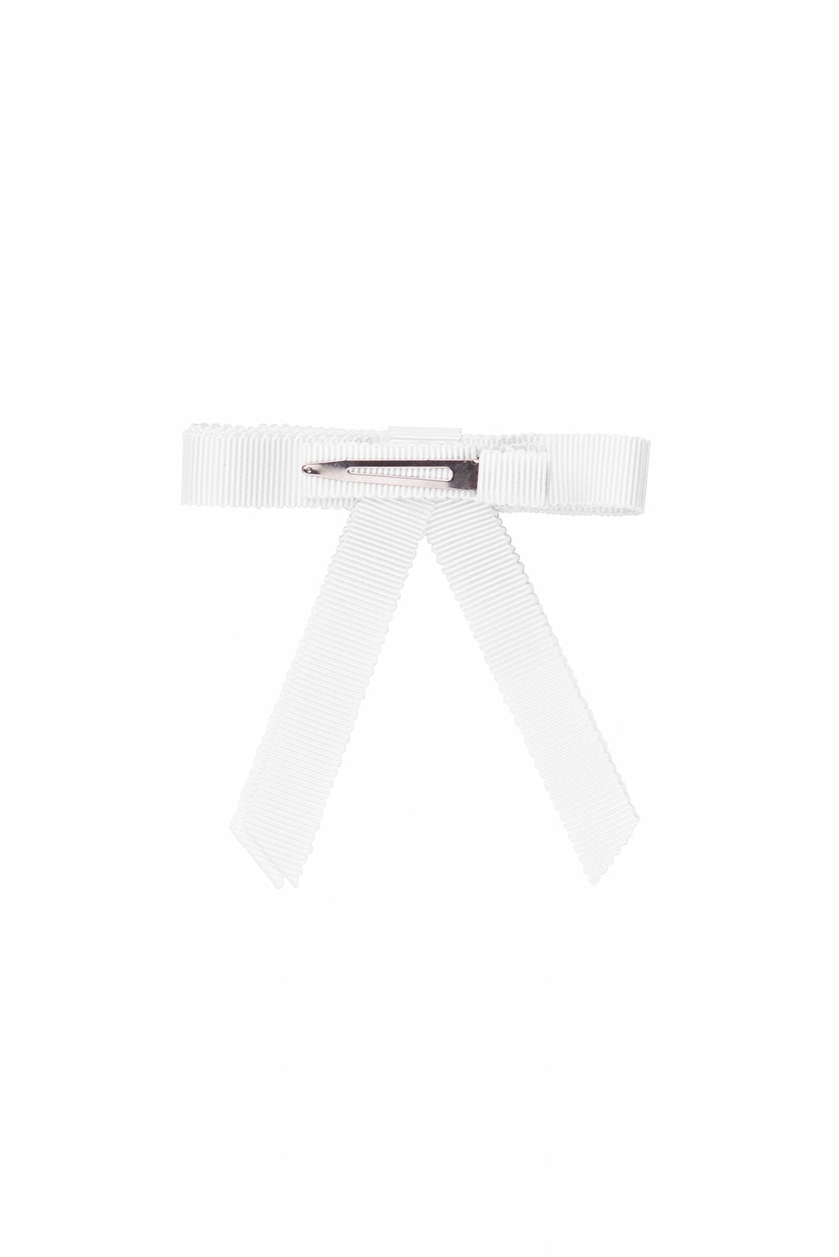 Grosgrain Bow Clip Set (2) - White - PROJECT 6, modest fashion